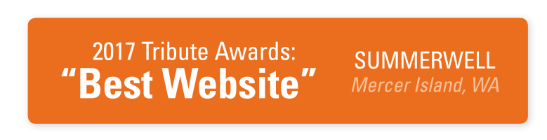 Tribute Awards Badge - Best Website - Summerwell on Mercer Island
