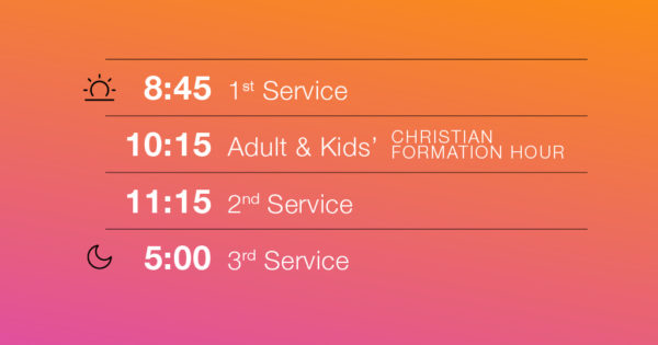 Fall Services Schedule